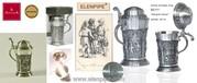 Мини-кружки Артина олово для крепких напитков Австрия опт Elenpipe