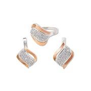 Женский набор серьги и кольцо