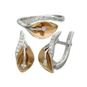 Набор женский серьги и кольцо
